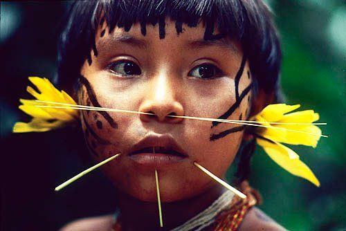 The Yanomami are a group of indigenous people who live in some 200–250 villages in the Amazon rainforest on the border between Venezuela and Brazil. They are one of the indigenous groups that still live in traditional ways. This is because they were isolated from the rest of the world, in the middle of the Amazon rainforest for thousands of years.