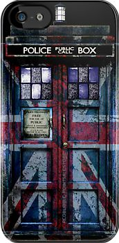 Tardis doctor who with Union Jack Flag Paint apple iphone 5, iphone 4 4s, iPhone 3Gs, iPod Touch 4g case