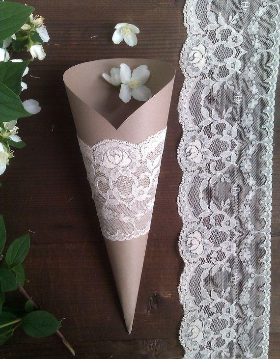 Wedding Rice Toss Cone Paper Cones Wedding by TheWeddingBirds