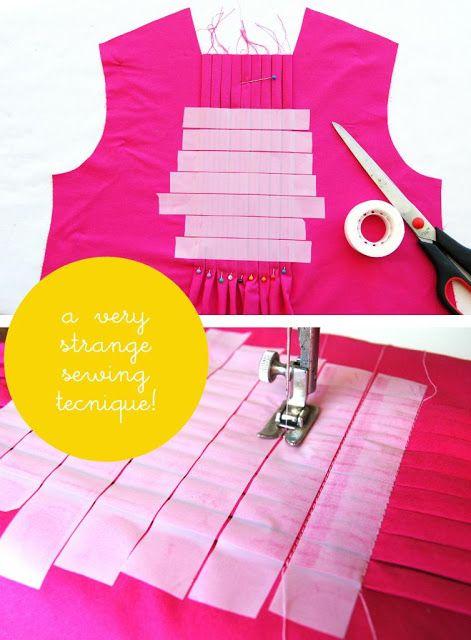 Great idea for pleats!