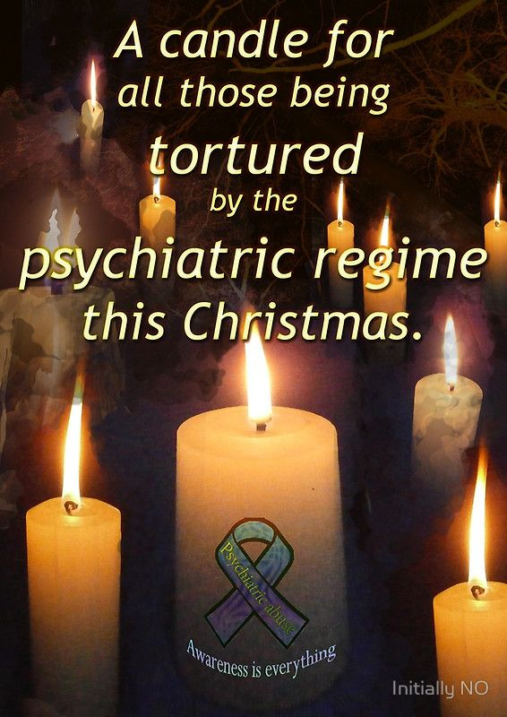 A candle for all those tortured by the psychiatric regime this Christmas