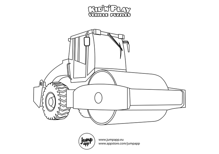 road roller Printable Coloring