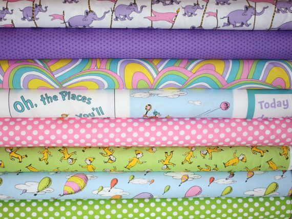 Dr Seuss Oh The Places You Ll Go Quilt Or Craft Fabric By