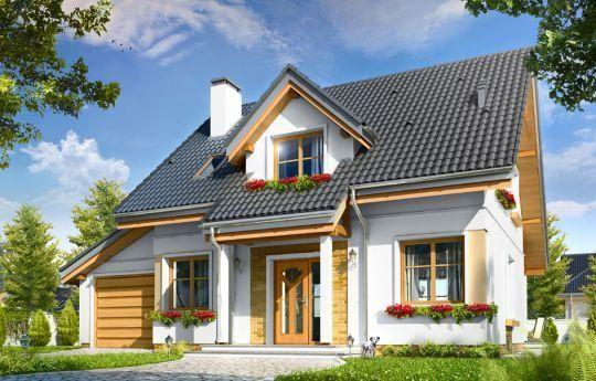 Проект дома с мансардой Спокойный; 163,4 кв.м. | Заказать проект дома, проекты загородных домов
