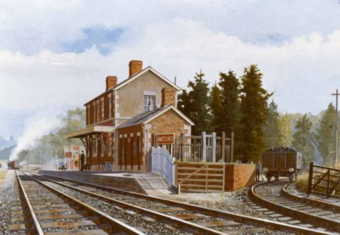 Nant Clwyd station, North Wales in the 1950's