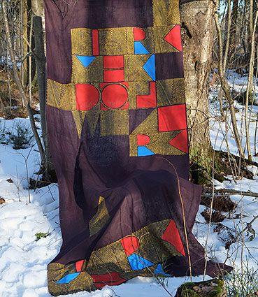 Текстиль в авторских техниках, декоративные ткани, эксклюзивные палантины шторы ширмы linen fabric,  screen printing