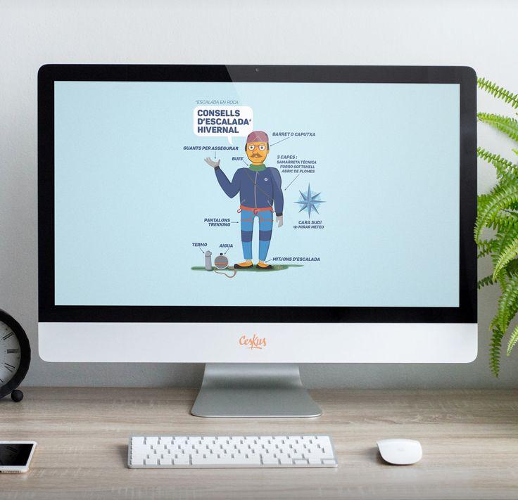 escalada, muntanya, infografia, ilustración, diseño gráfico, vector, ceskus, wallpaper