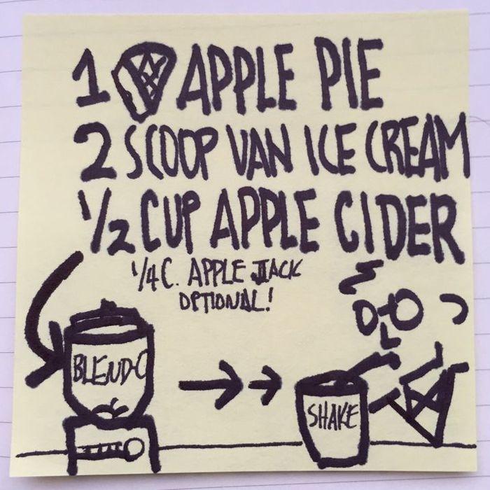 Alton Brown's Leftover Apple Pie Milkshake Recipe