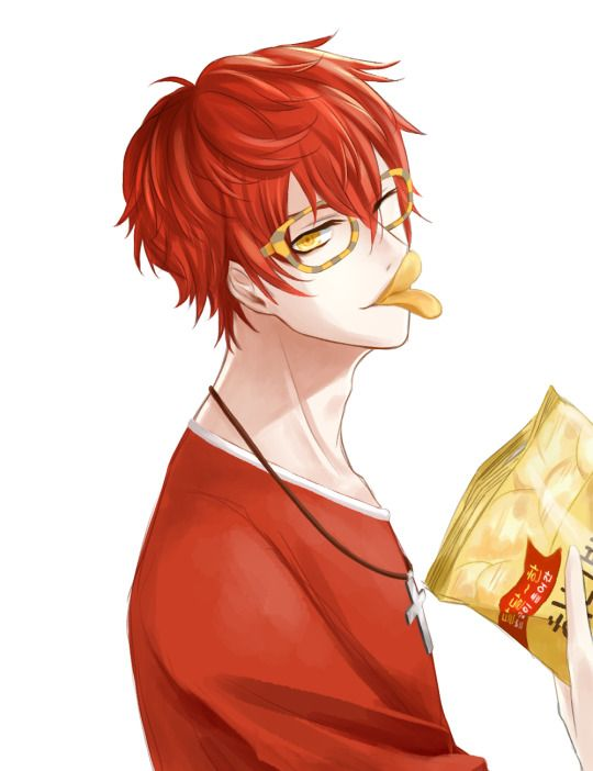 Playing Mystic Messenger 707 route now… not end yet, but soon *hug tissue box T_T* I really wish this cutie pie a happy life