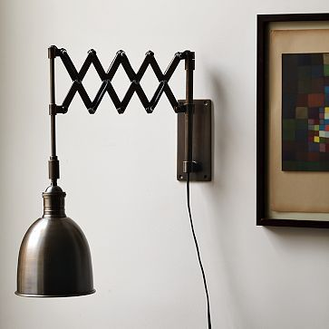 accordion sconce from west elm potential light for new. Black Bedroom Furniture Sets. Home Design Ideas