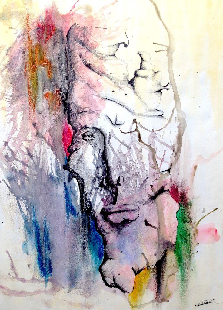 """""""Stoner."""" Watercolor Dimensions: (30x40) Artiste: Jimi Crainic"""