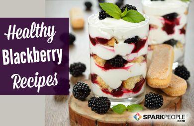 12 Healthy Blackberry Recipes via @SparkPeople