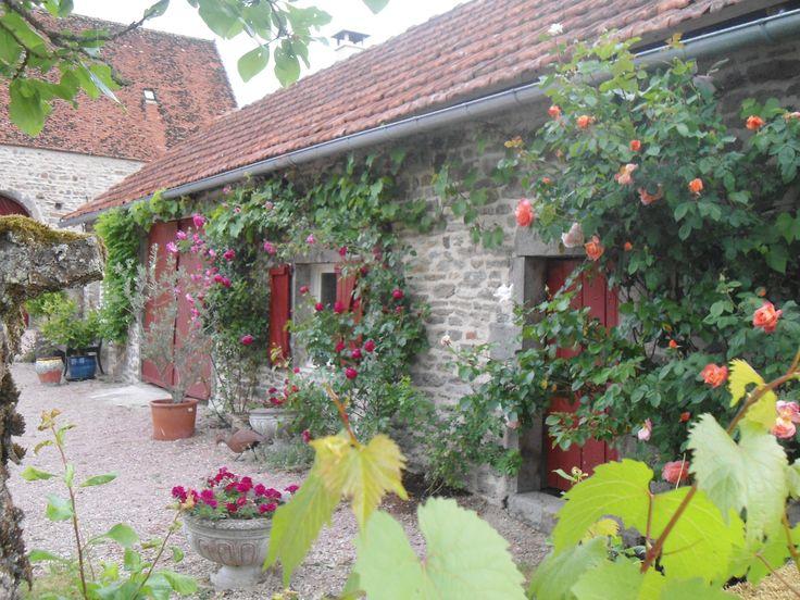 Mein Atelier in Frankreich  -  My studio in Burgundy