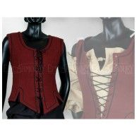 Ladies Vest Red. Item can be found at http://www.larpcanada.com
