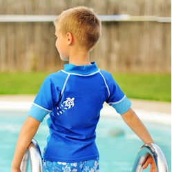 Baby Banz Swim-Short Sleeve Rash Top Blue/Blue Was:$20.00 NOW:$10.00 #Baby and #Kid #Deals #Roundup