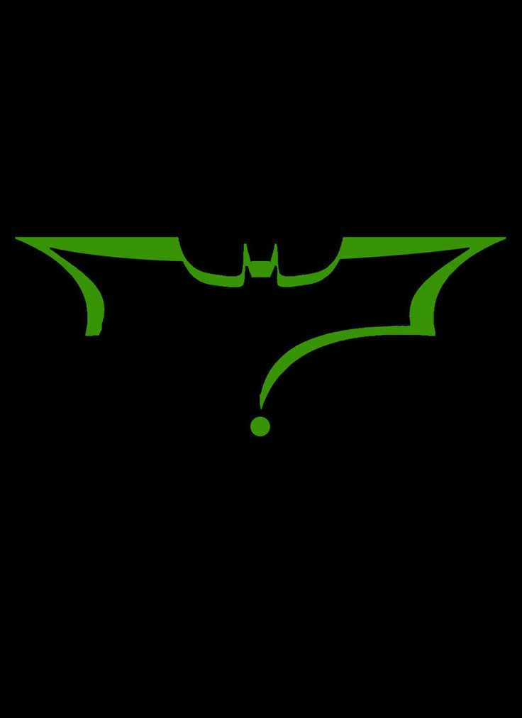 Batman symbol in the shape of the Riddler question mark
