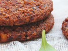Galettes mexicaines quinoa~haricots rouges~maïs aux épices chili ( testé cuit au four)