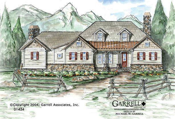 Garrell associates inc ponderosa house plan 01424 for Ponderosa ranch house floor plan