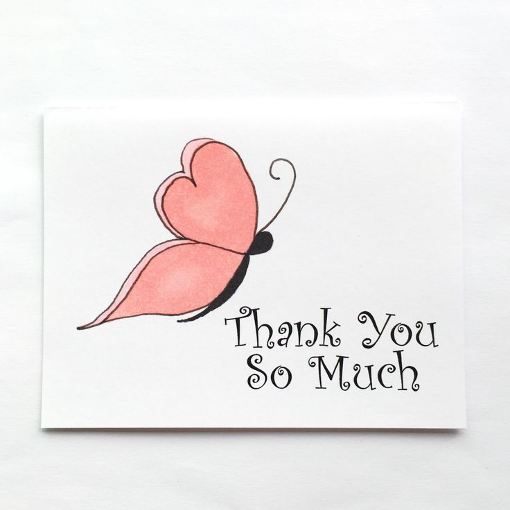 Thank You Butterfly Card by Xangelle on Etsy https://www.etsy.com/ca/listing/398703145/thank-you-butterfly-card