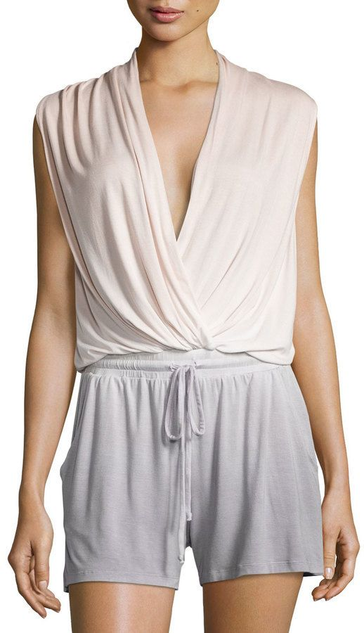 $119, Young Fabulous And Broke Sleeveless Ombre Romper Pinkgray. Sold by Last Call by Neiman Marcus. Click for more info: https://lookastic.com/women/shop_items/296988/redirect