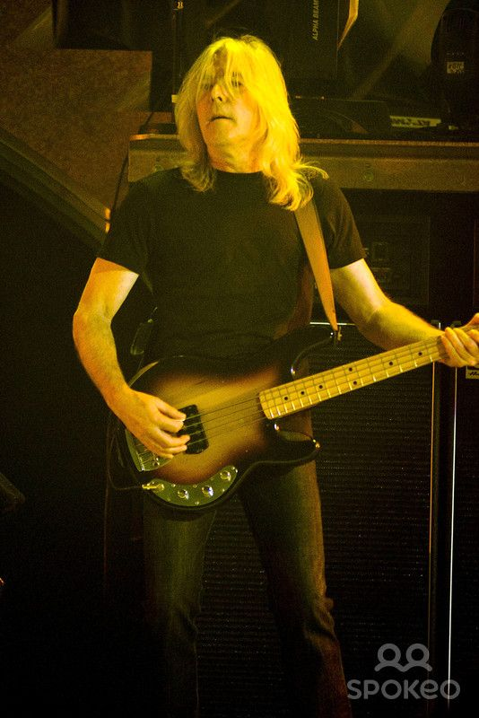 Cliff Williams of AC/DC performing live during their Black Ice World Tour