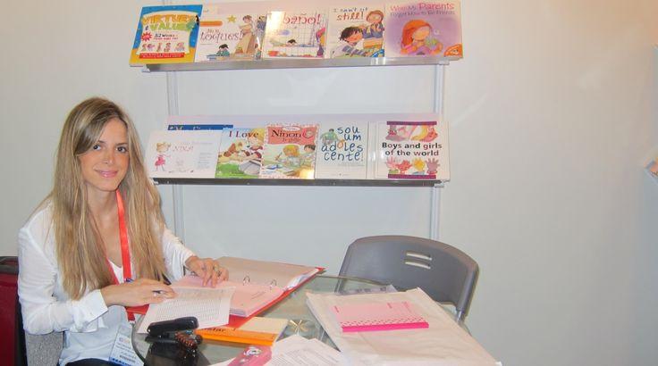 Georgina Segarra at the Shanghai International Children's Book Fair (CCBF)! Thanks for visiting us!