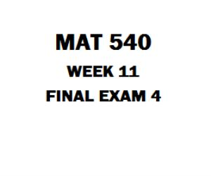 MAT 540 Final Exam 4 1. The linear programming model for a transportation problem has constraints for supply at each source and demand at each destination 2. When the right-hand sides of 2 constraints are both increased by 1 unit, the value of the objective function will be adjusted by the sum of the constraints' prices. 3. The standard form for the computer solution of a linear programming problem requires all variables to the right and all numerical values to the left of the inequality