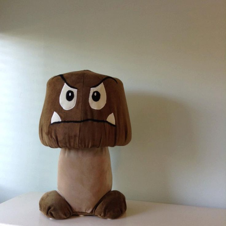 Super Mario Bros. Goomba Character Gaming Chair, Mushroom Chair, Stool, Upholstered Strong Character Handmade Game Room Furniture