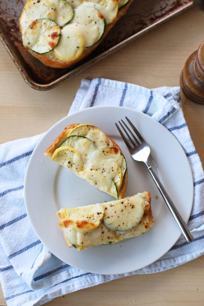 Summer Squash French Bread Pizzas