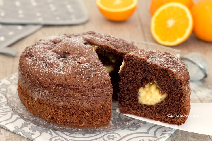 Torta cioccolato e crema all'arancia