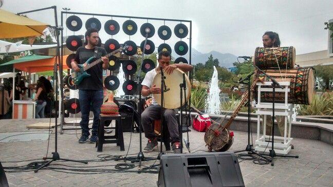 Banda tocando en vivo una bella melodia