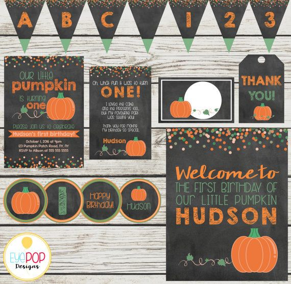 Is your little pumpkin turning ONE? Well, lets celebrate in style! (I can also…
