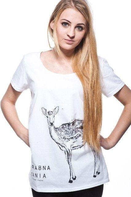 bluzki - t-shirty - damskie-LEŚNE RUNO - ZGRABNA ŁANIA t-shirt damski