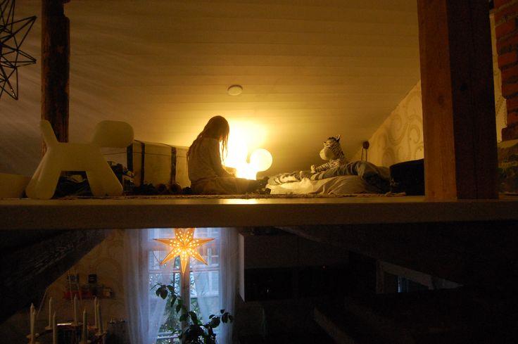 X-mas time in Loviisa, Finland. House Vackerbacka. Playroom / hideaway for kids upstairs. Photo Johanna Blåfield.