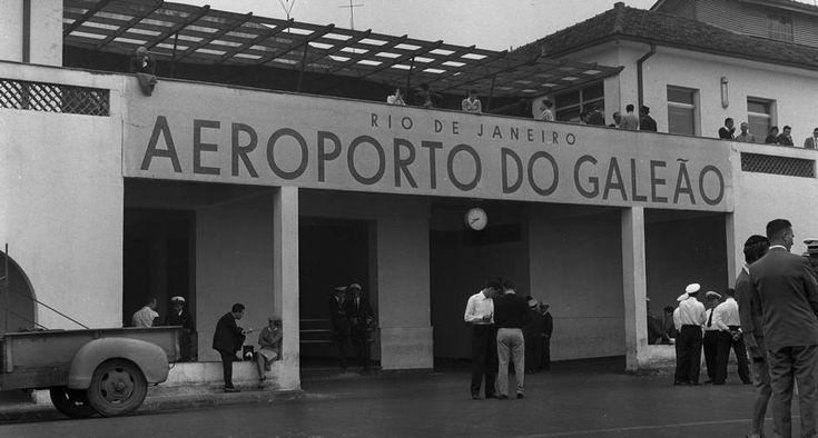 Antigo Galeão. No início da década de 60, a entrada do aeroporto internacional do Rio