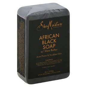 Shea Moisture Acne Prone & Trouble Skin African Black Soap with Shea Butter - 8 oz : Target