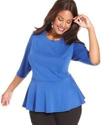 free pattern for plus size peplum top - Google Search