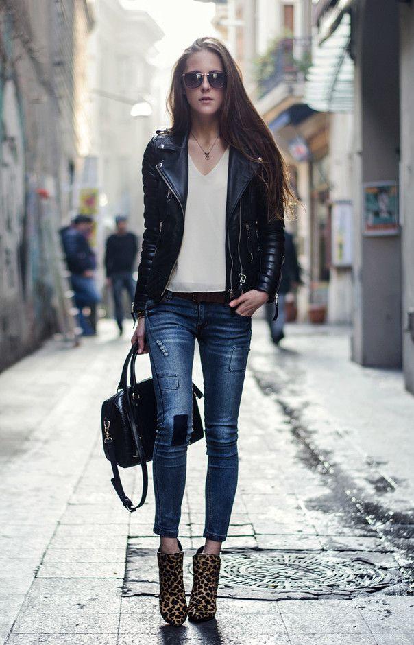 15 Great Ways To Wear a Black Leather Jacket