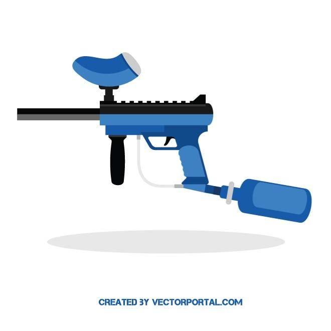 Paintball gun vector image.