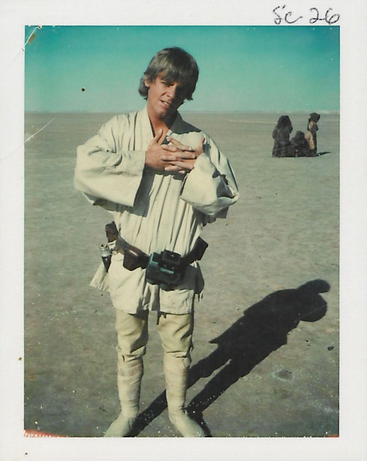 Notes from the continuity editor keep everything together in an archive of old Star Wars scripts and Polaroid pictures.