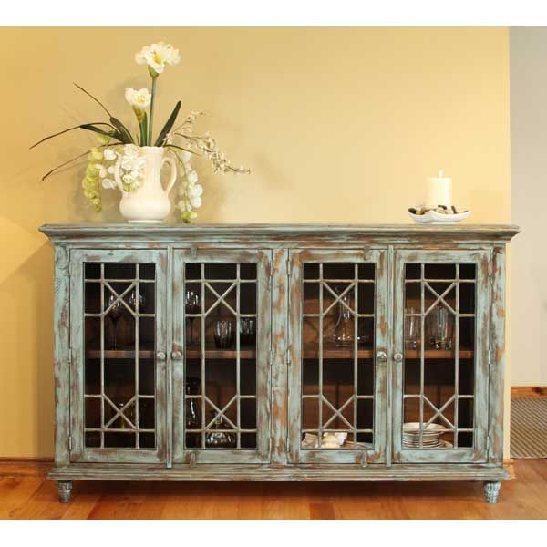 Artisan Home Living Room Console With 4 Doors