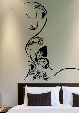 Wall sticker - Butterfly & Flower BUY IT NOW ON www.dezzy.it!