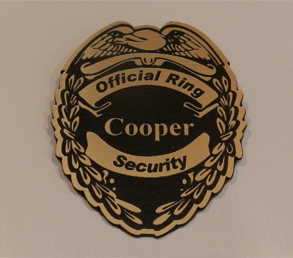 Gold Ring Bearer official security badge by CustomSignsandTags