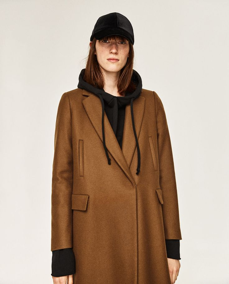 Image 1 of MASCULINE DOUBLE BREASTED COAT from Zara