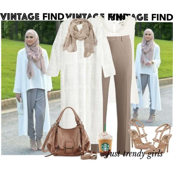 neutral kimono outfit hijab look,Long kimono cardigan hijab style http://www.justtrendygirls.com/long-kimono-cardigan-hijab-style/
