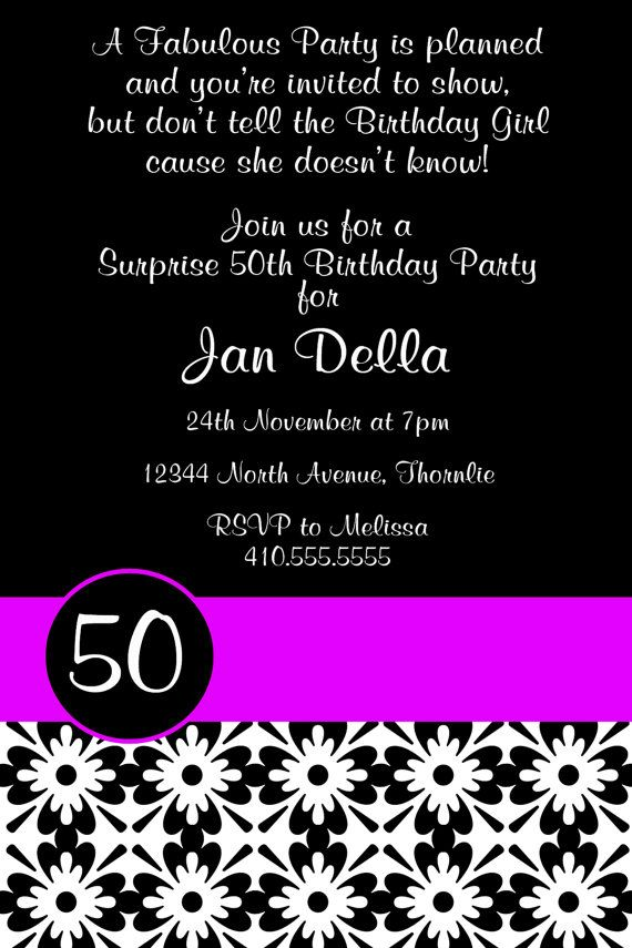 16 best 40th birthday images – Personalized 40th Birthday Invitations