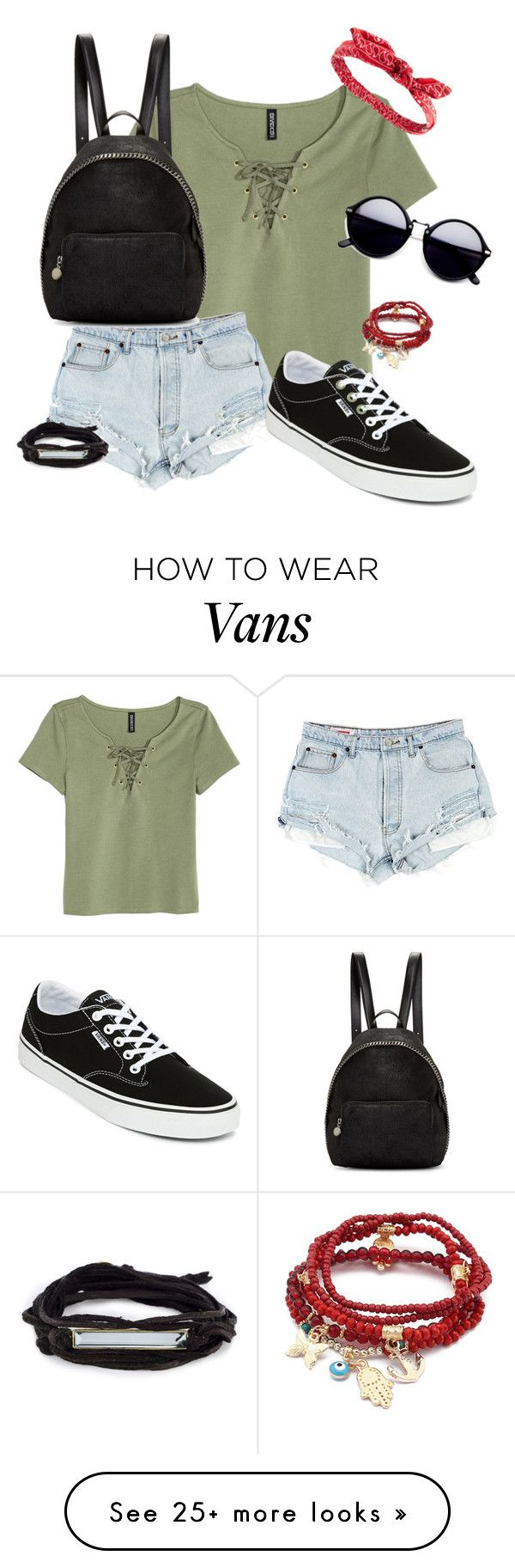 """""""Summer Hangout"""" by maxine128 on Polyvore featuring H&M, Vans, STELLA McCARTNEY, Charlotte Russe and Chicnova Fashion"""