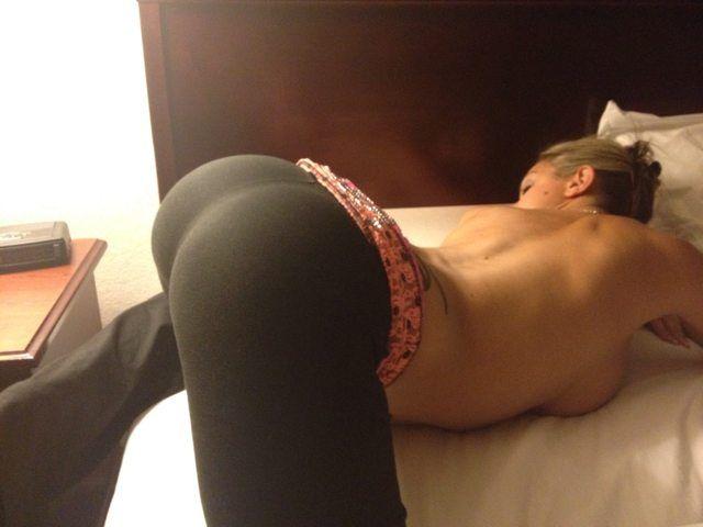 naked black cute butt