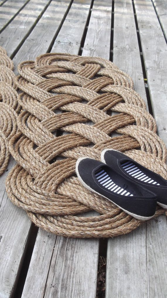 Nautical Decor - Patio Doormat and Runner - Six Bight Ocean Mat - Country Western Decor