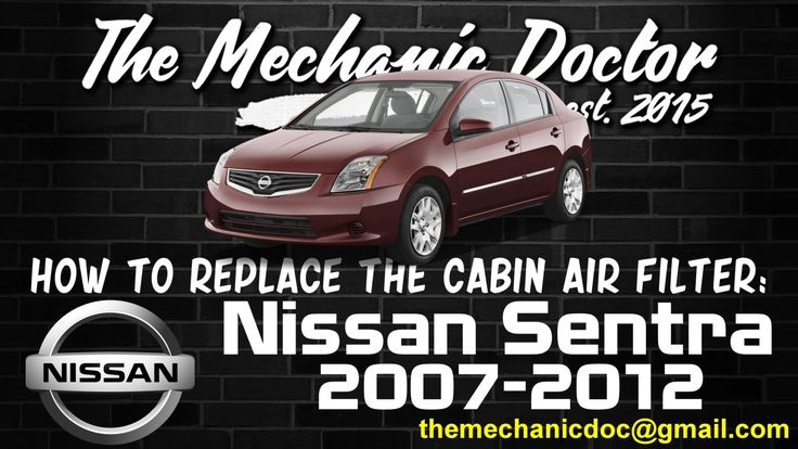This video will show you step by step instructions on how to replace the cabin air filter on a Nissan Sentra 2007-2012.